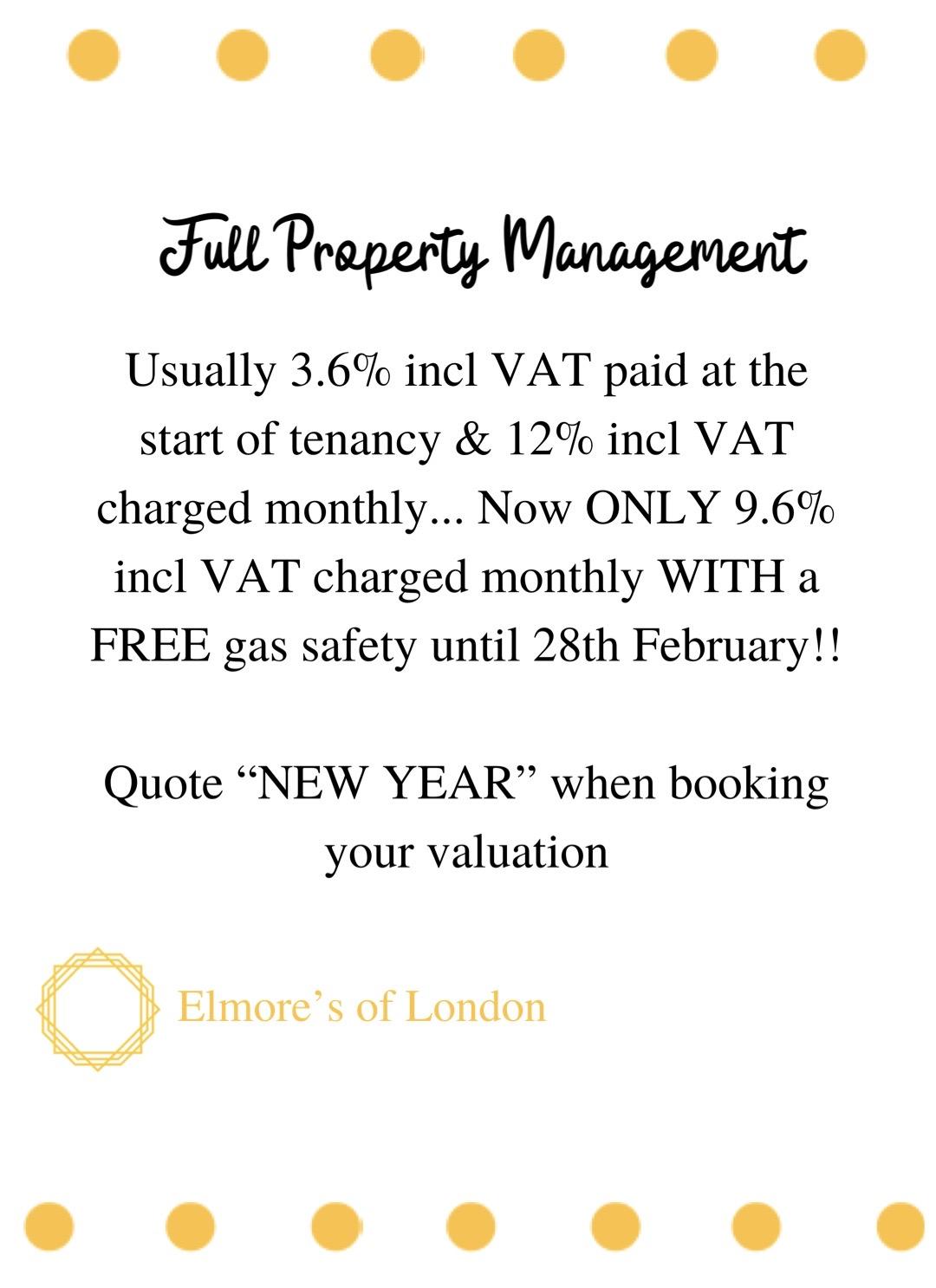 Elmore's of London landlord offers full property management